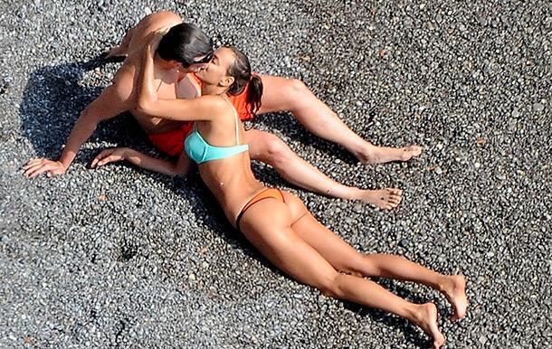 Брэдли Купер и Ирина Шейк на отдыхе в Италии