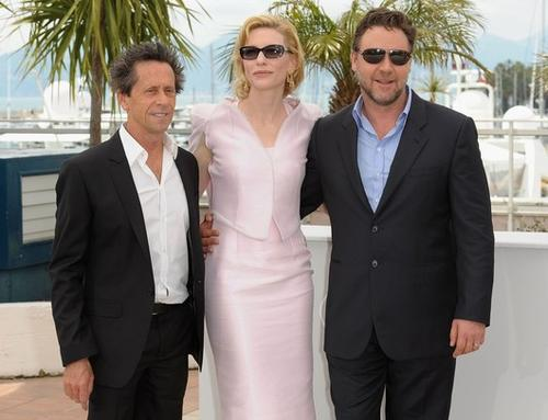 Brian Grazer, Cate Blanchett, Russell Crowe in Cannes