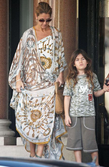 Селин Дион с сыном