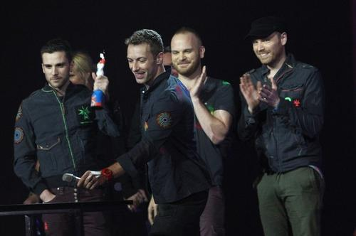 "Рок-бэнд ""Coldplay"" ( Jonny Buckland, Guy Berryman, Chris Martin, Will Champion)"