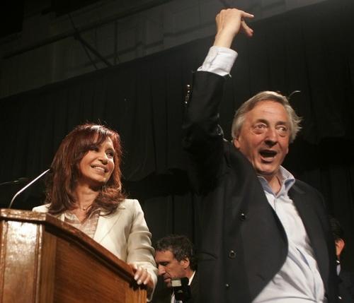 Кристина Фернандес де Киршнер с мужем Нестором