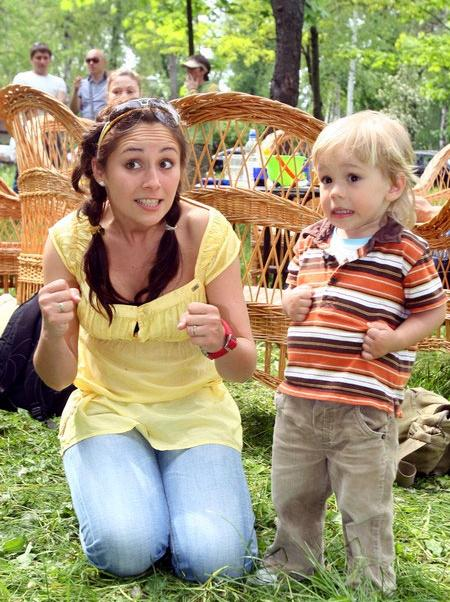 Даша Малахова с сыном Матяшем