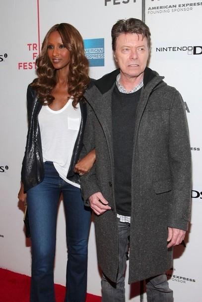 Дэвид Боуи с супругой-супермоделью Иман