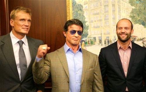 Дольф Лундгрен / Dolph Lundgren, Сильвестр Сталлоне / Sylvester Stallone и Джейсон Стэтхэм / Jason Statham в Киеве