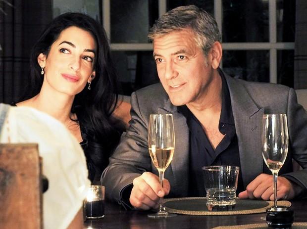 Джордж Клуни с женой