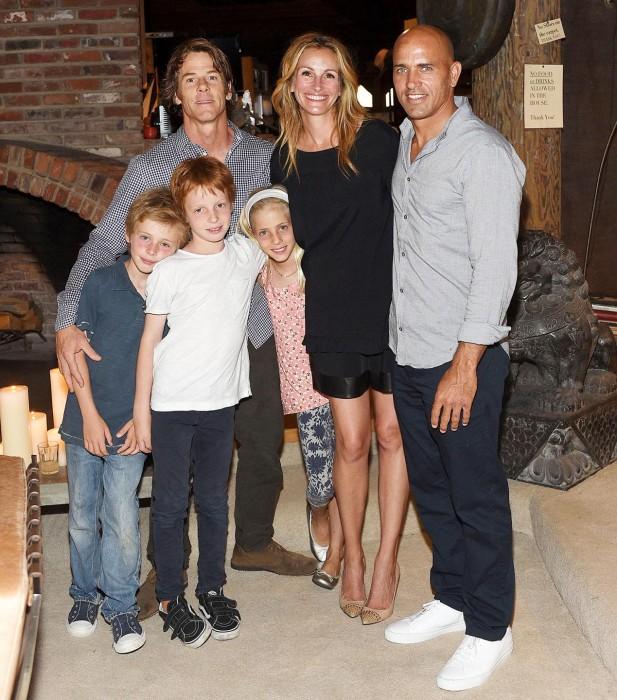 Джулия Робертс с семьёй