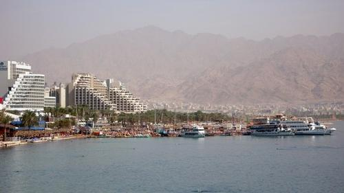 Курорт Эйлат на берегу Красного моря, Израиль