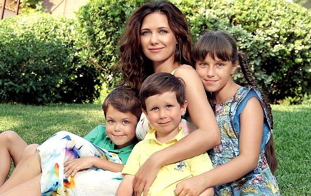 Екатерина Климова с семьей