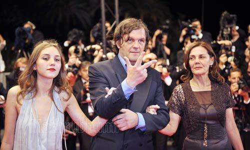 Эмир Кустурица с супругой Майей и дочерью