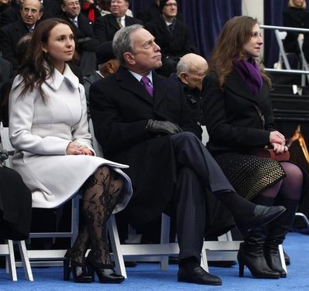 Майкл Блумберг со своей дочерью Эммой (справа)