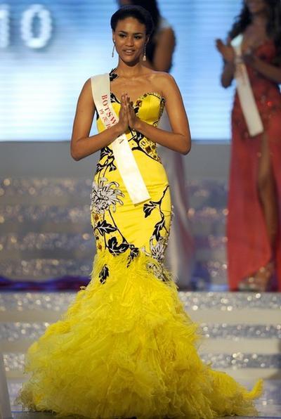 Эмма Вареус / Emma Wareus из Ботсваны, занявшая второе место на конкурсе «Мисс Мира 2010»