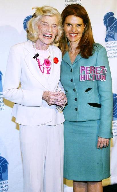 Юнис Кеннеди Шрайвер с дочерью Марией