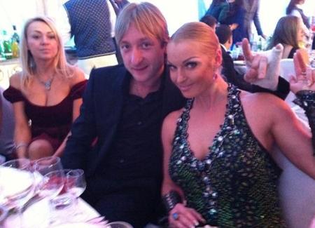 Яна Рудковская, Евгений Плющенко и Анастасия Волочкова