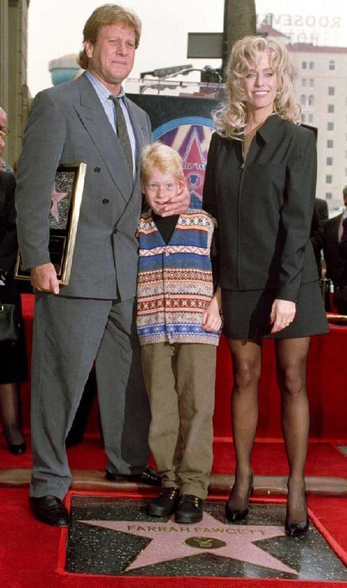 Фарра Фосетт с мужем и сыном