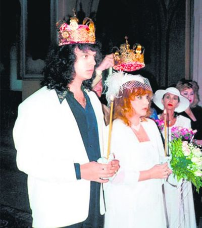 Филипп и Алла на венчании