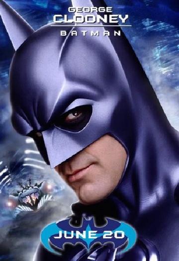 """Джордж Клуни в роли Бэтмена в фильме """"Бэтмен и Робин"""""""