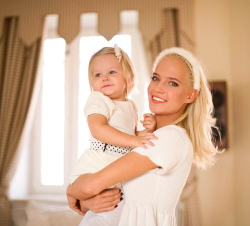 Глюк`oZa с дочерью Лидой