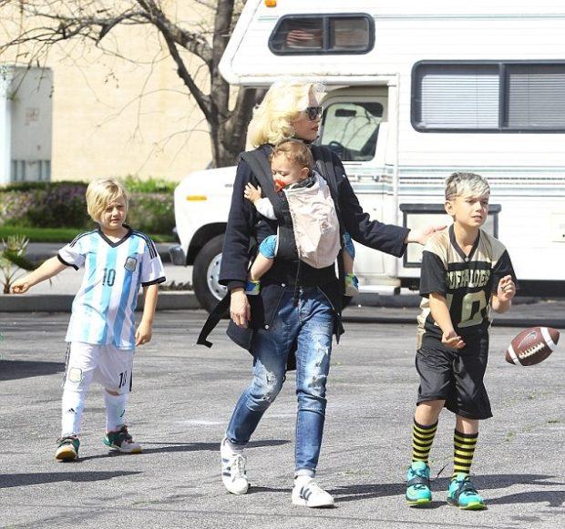 Гвен Стефани и ее сыновья
