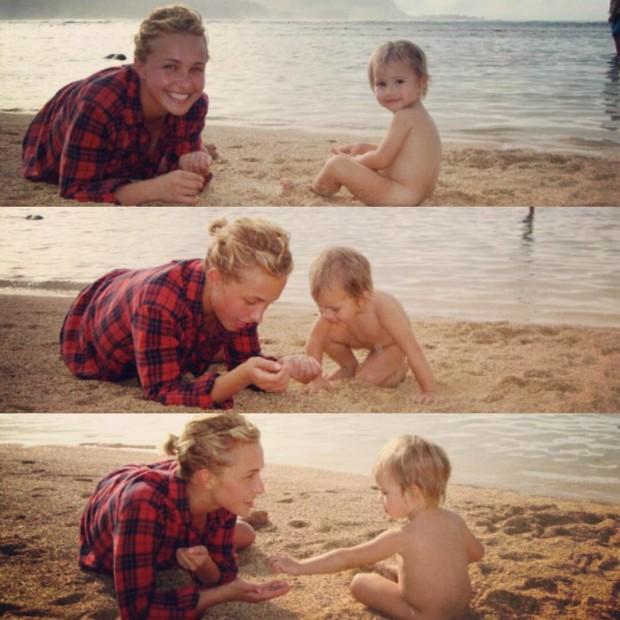 Хайден Панеттьери с дочерью