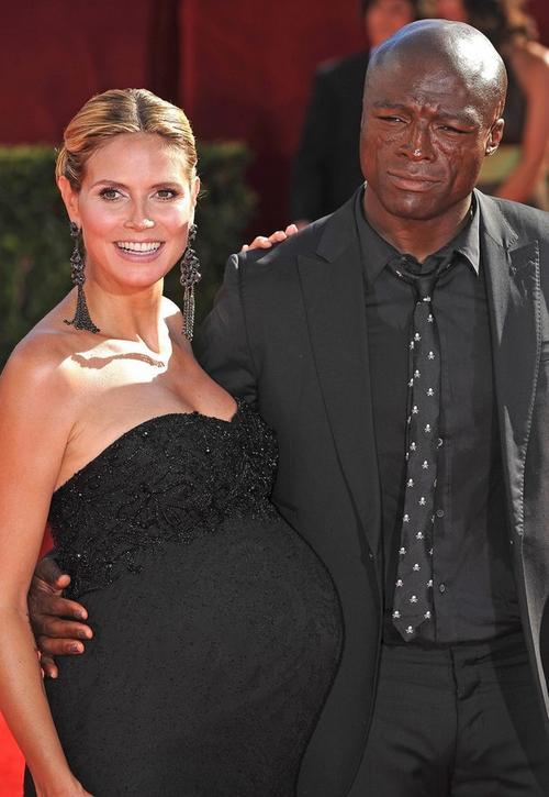 Хайди Клум с мужем Силом в сентябре 2009 года