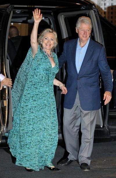 Хиллари Клинтон и Билл Клинтон накануне свадьбы дочери