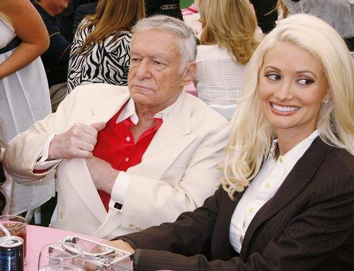 Хью Хефнер со своей фавориткой, актрисой Холли Мэдисон