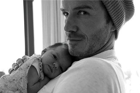 Дэвид Бекхэм и его дочь