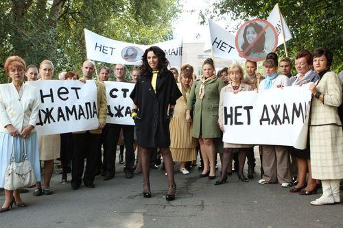 Джамала на съемках клипа в Киеве