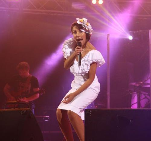 Джамала на своем первом сольном концерте в Киеве