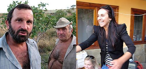 Папа и дедушка Аяр, хозяин инжирового сада