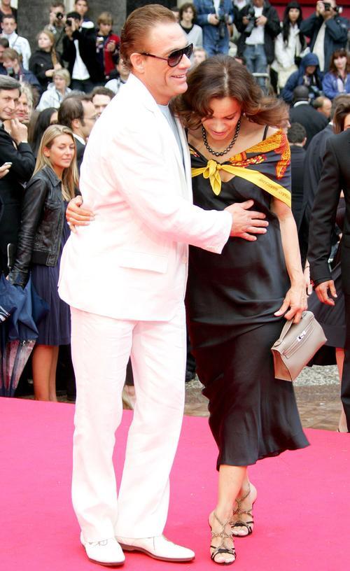 Жан-Клод Ван Дамм со свой женой Гладис Португез