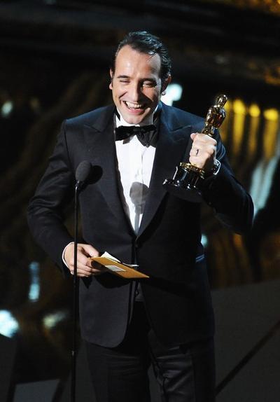 """Жан Дюжарден на церемонии """"Оскар"""""""
