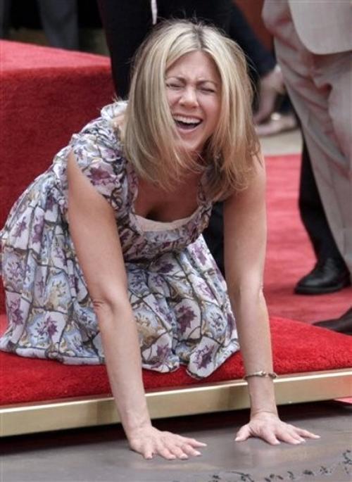 Дженнифер Энистон / Jennifer Aniston на Аллее Славы в Голливуде