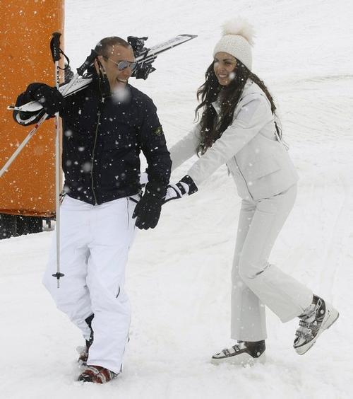 Карима эль-Маруг со своим женихом Лукой Риссо