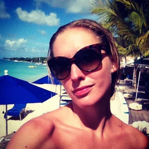 Катя Осадчая на острове Барбадос