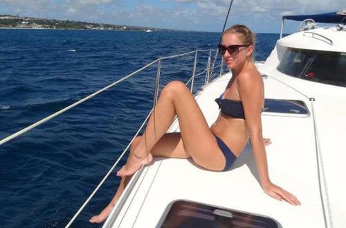 Катя Осадчая на Карибах