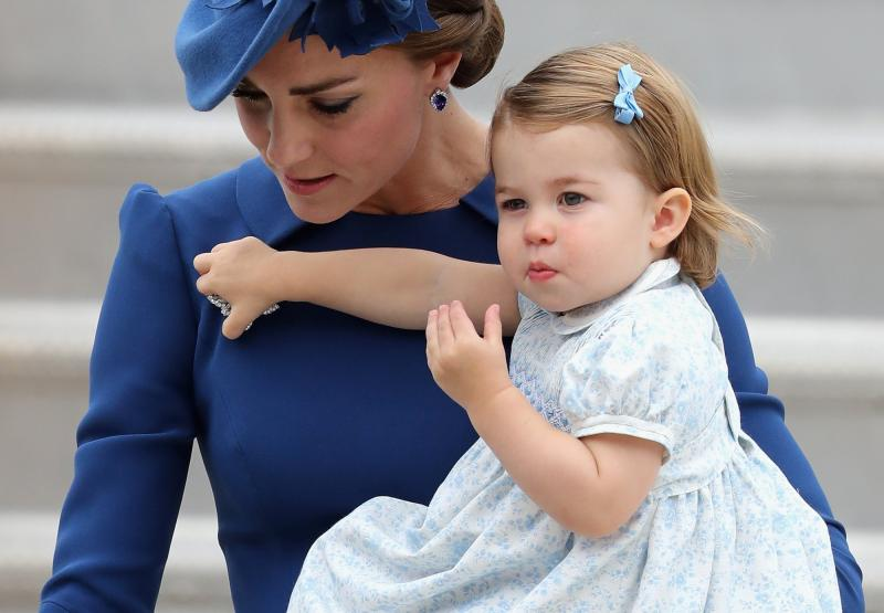 Кэйт Миддлтон и принцесса Шарлотта