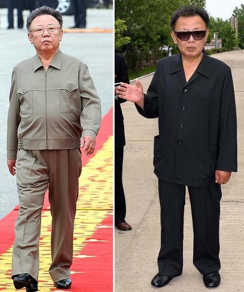 Лидер Северной Кореи Ким Чен Ир в октябре 2007 года (слева) и в июле 2009 года (справа)
