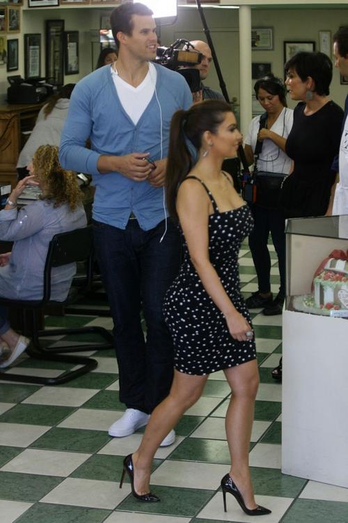 Ким Кардашьян / Kim Kardashian со своим женихом Крисом Хамфрисом / Kris Humphries