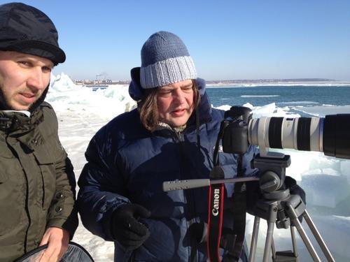 Лидер группы «ТІК» Виктор Бронюк на съемках клипа на песню «Абонент»