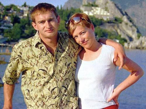 Константин Хабенский с женой Настей