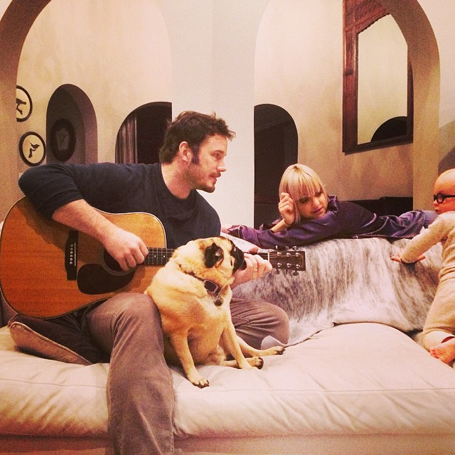 Крис Прэтт с семьей