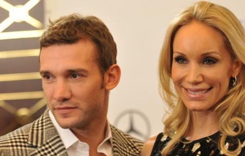 Андрей Шевченко с супругой Кристен Пазик