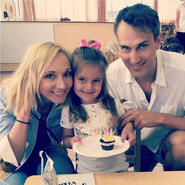 Кристина Орбакайте и Михаил Земцов с дочерью