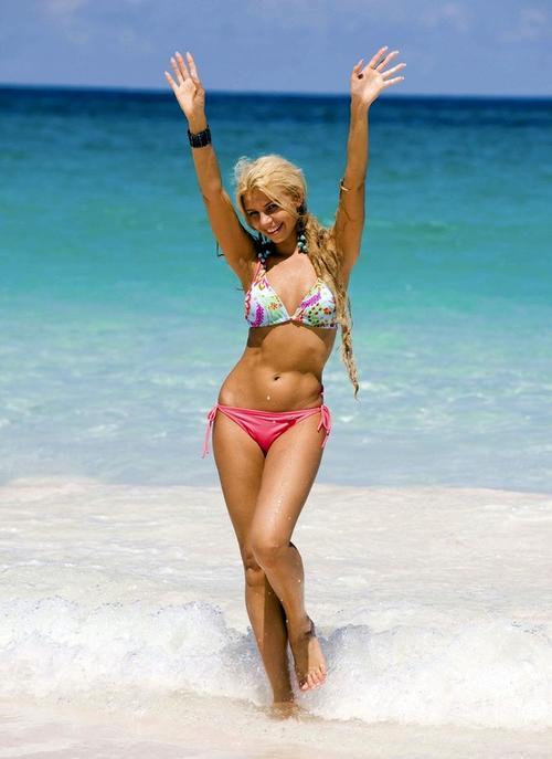 украинские модели кристина на пляже