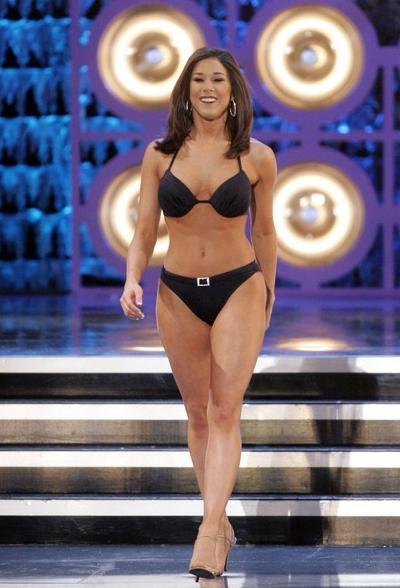 """Кристи Кэвиндер/ Kristy Cavinder из Калифорнии, занявшая второе место на конкурсе """"Мисс Америка"""""""