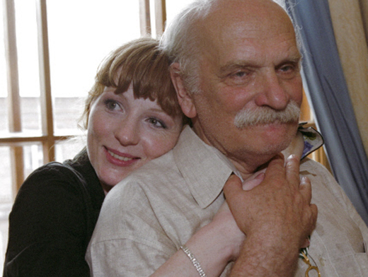 Ксения с любимым учителем — Петром Фоменко