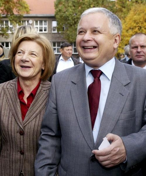 Президент Польши Лех Качиньский с супругой Марией