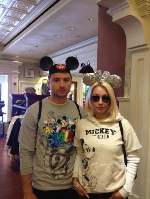 Сергей Лазарев и Лера Кудрявцева на отдыхе в США