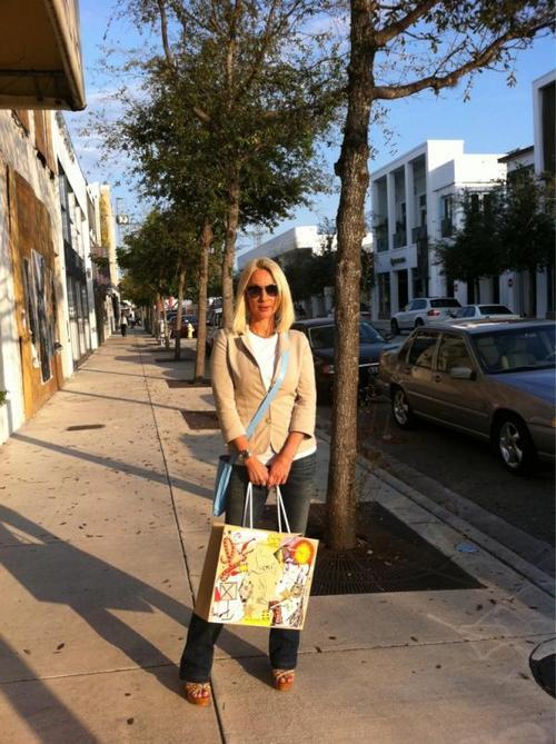 Лера Кудрявцева на отдыхе в США